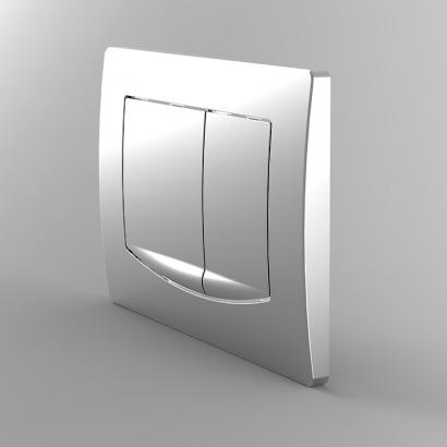 dual flush plates for concealed cisterns